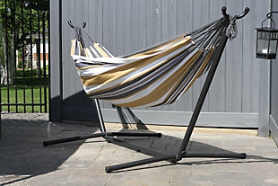 Home Accents Double Hammock with Stand, , rollover