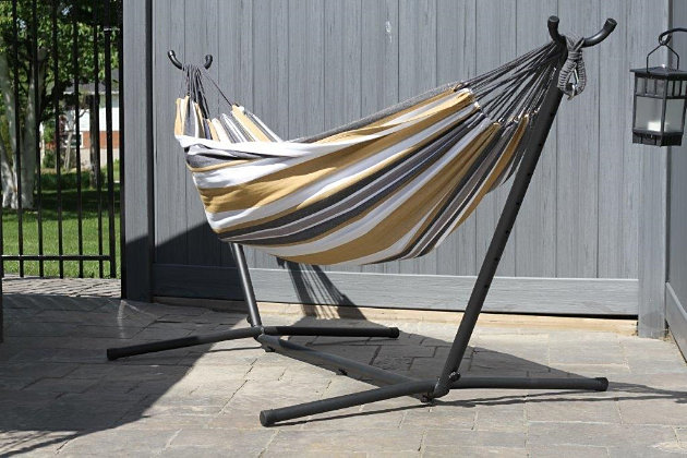 Home Accents Double Hammock with Stand, , large