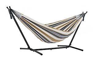 Patio Double Hammock with Stand, Desert Moon, large