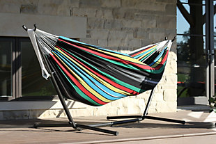 Patio Double Hammock with Stand, Multi, rollover