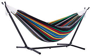 Patio Double Hammock with Stand, Multi, large