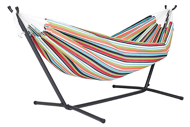 Home Accents Sunbrella® Hammock with Stand, , large