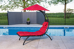 Patio Lounge Chair with Cushion, , rollover
