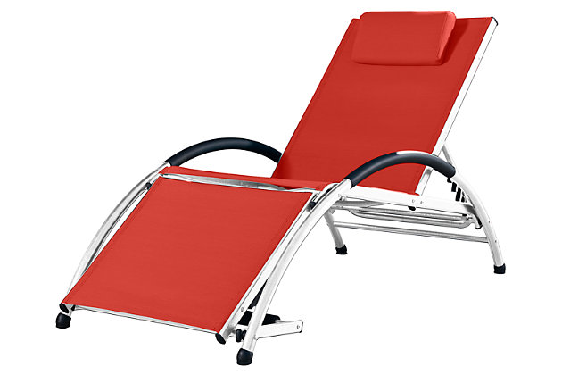Home Accents Dockside Sun Lounger by Ashley HomeStore, Red