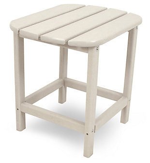 "POLYWOOD South Beach 18"" Side Table, Sand, rollover"