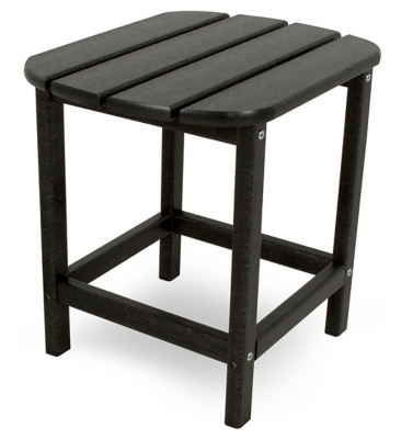 """POLYWOOD South Beach 18"""" Side Table, Black, large"""