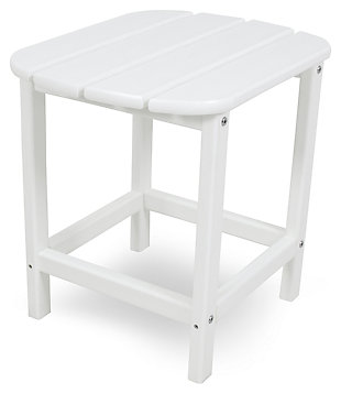 """POLYWOOD South Beach 18"""" Side Table, White, large"""