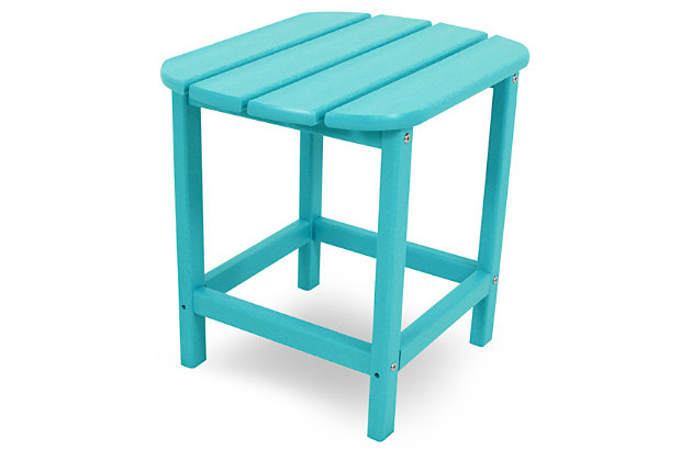 """POLYWOOD South Beach 18"""" Side Table, Turquoise, large"""