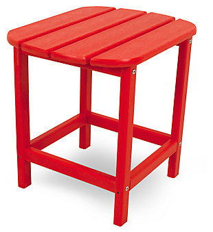 """POLYWOOD South Beach 18"""" Side Table, Red, large"""