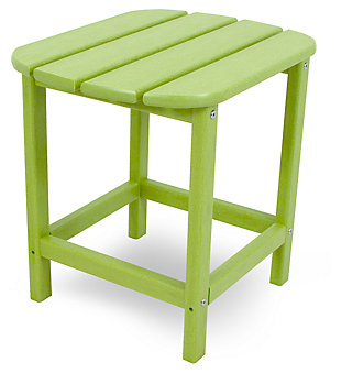 "POLYWOOD South Beach 18"" Side Table, Lime, large"