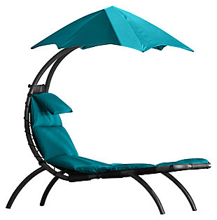 Patio Lounge Chair with Cushion, , large