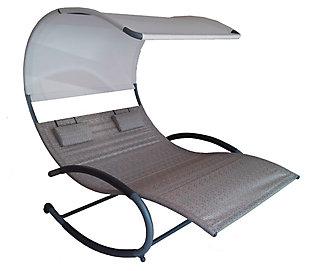 Patio Double Chaise Rocker, , rollover