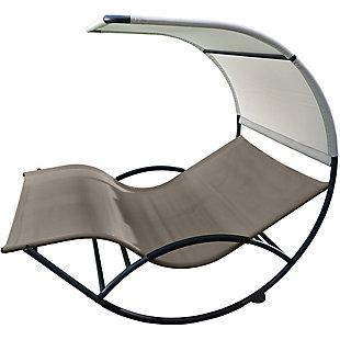 Patio Double Chaise Rocker, , large