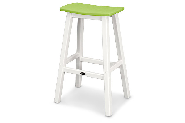 POLYWOOD Emerson All Weather Bar Stool, Lime, large