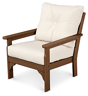 POLYWOOD Emerson All Weather Deep Seating Chair, Linen, rollover