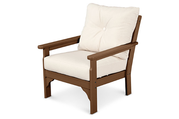 POLYWOOD Emerson All Weather Deep Seating Chair, Linen, large