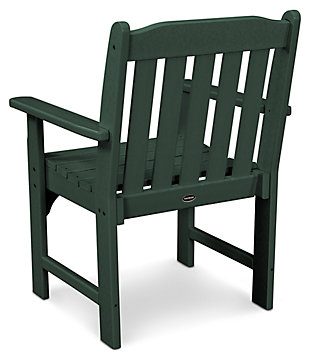 POLYWOOD Emerson All Weather Garden Arm Chair, Green, large