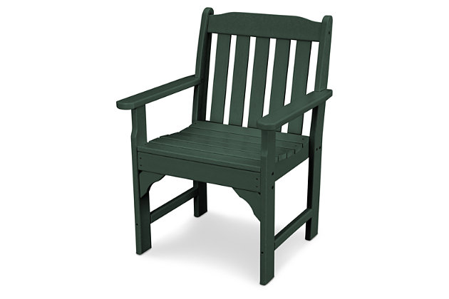 POLYWOOD Emerson All Weather Garden Arm Chair by Ashley HomeStore, Green