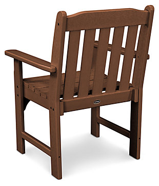 POLYWOOD Emerson All Weather Garden Arm Chair, Teak, large