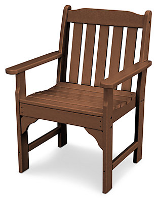 POLYWOOD Emerson All Weather Garden Arm Chair, Teak, rollover
