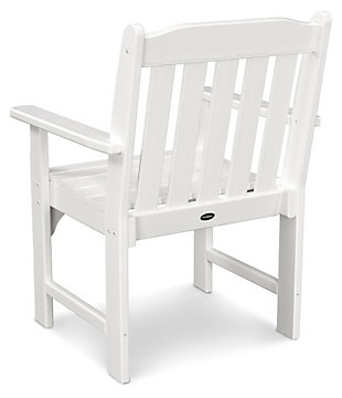 POLYWOOD Emerson All Weather Garden Arm Chair, White, large