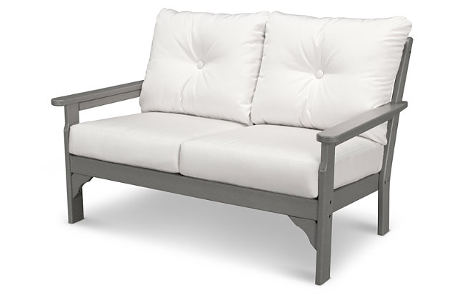 POLYWOOD Emerson All Weather Deep Seating Settee by Ashle...