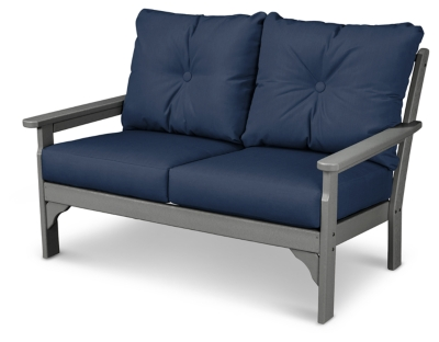 All Weather Deep Seating Settee Blue Gray Emerson Product Photo 891