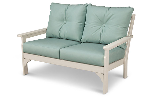 POLYWOOD Emerson All Weather Deep Seating Settee, Spa, large