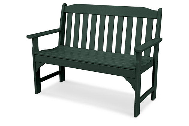 "POLYWOOD Emerson All Weather 48"" Bench, Green, large"