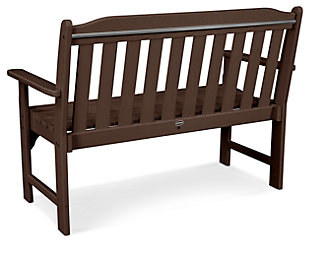 "POLYWOOD Emerson All Weather 48"" Bench, Mahogany, large"