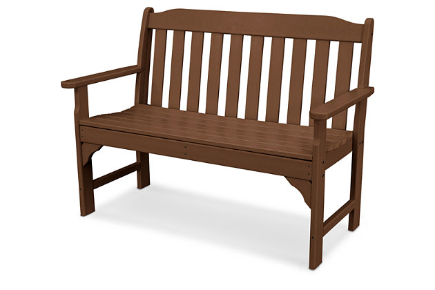 "POLYWOOD Emerson All Weather 48"" Bench, Teak, large"