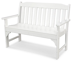 "POLYWOOD Emerson All Weather 48"" Bench, White, large"