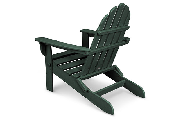 POLYWOOD Emerson All Weather Adirondack Chair, Green, large