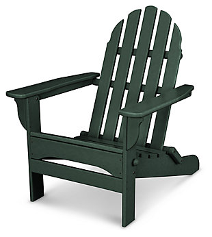 POLYWOOD Emerson All Weather Adirondack Chair, Green, rollover