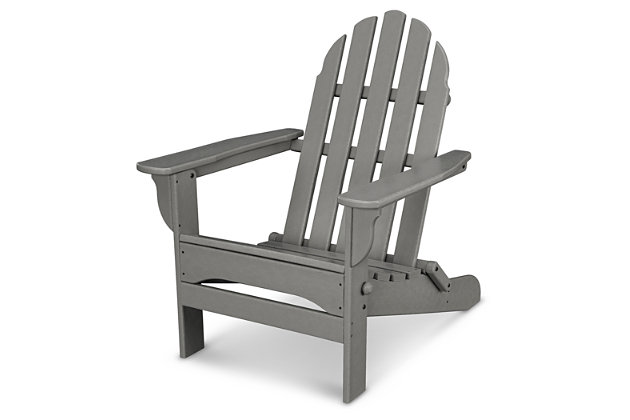 POLYWOOD Emerson All Weather Adirondack Chair, Slate, large
