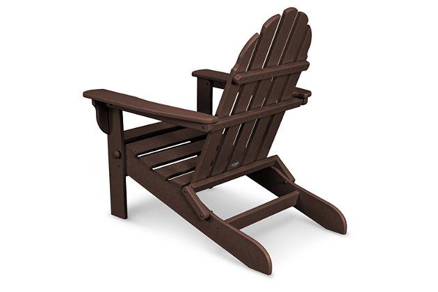 POLYWOOD Emerson All Weather Adirondack Chair, Mahogany, large