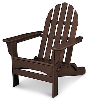 POLYWOOD Emerson All Weather Adirondack Chair, Mahogany, large