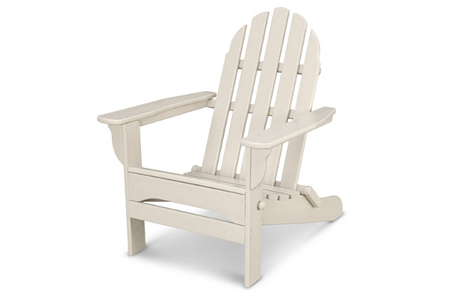 POLYWOOD Emerson All Weather Adirondack Chair, Sand, large