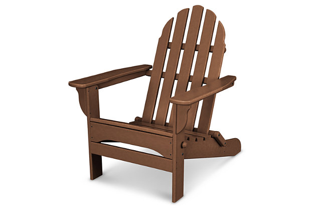 POLYWOOD Emerson All Weather Adirondack Chair, Teak, large