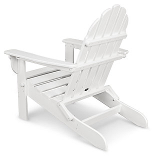 POLYWOOD Emerson All Weather Adirondack Chair, White, large