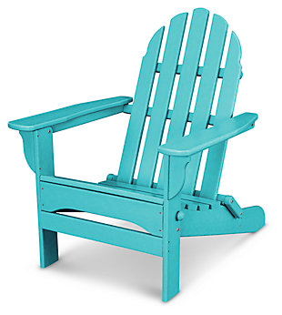 POLYWOOD Emerson All Weather Adirondack Chair, Turquoise, rollover