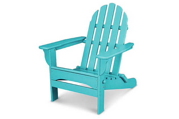 POLYWOOD Emerson All Weather Adirondack Chair, Turquoise, large