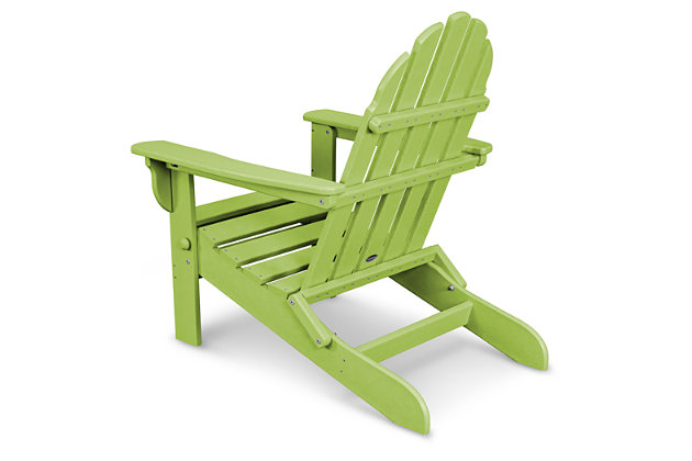 POLYWOOD Emerson All Weather Adirondack Chair, Lime, large