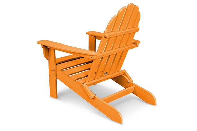 POLYWOOD Emerson All Weather Adirondack Chair, Tangerine, large