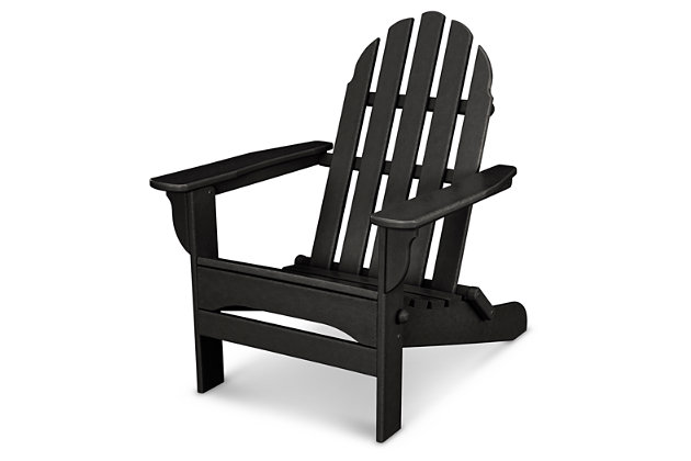 POLYWOOD Emerson All Weather Adirondack Chair, Black, large