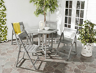 Ellyne Table and 4 Chairs (Set of 5), Gray, rollover