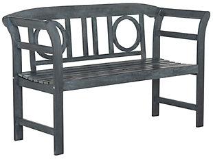 Safavieh Moorpark 2-Seat Bench, Ash, large