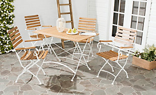 Halsted Outdoor Dining (Set of 5), Teak, rollover