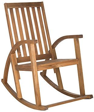 Safavieh Clayton Rocking Chair, Teak, rollover
