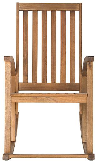 Safavieh Clayton Rocking Chair, Teak, large
